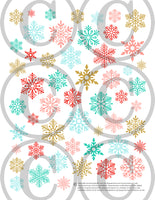 printable christmas planner stickers advent vintage pink snowflakes