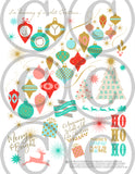 Vintage Pastels Printable Christmas Happy Planner Stickers for Classic, Big Planners