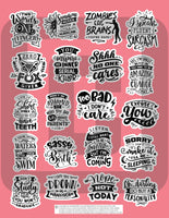 sassy and sarcastic planner stickers