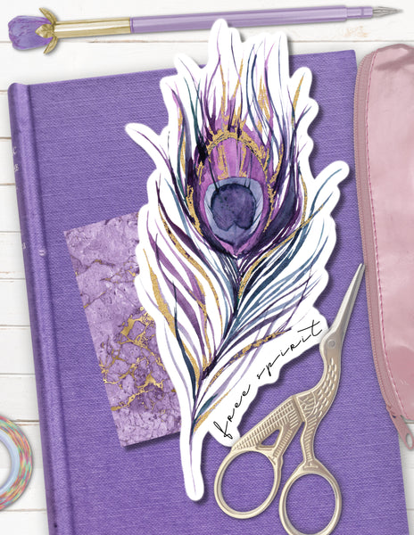 printable peacock feather planner tab divider die cut page marker for planners free spirit dream seeker stargazer
