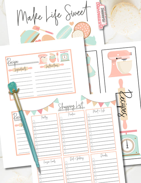 Printable Recipe Binder Meal Planner