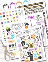 printable halloween sticker kit
