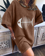 Crew Neck Elegant Holiday Beach Mini Dresses