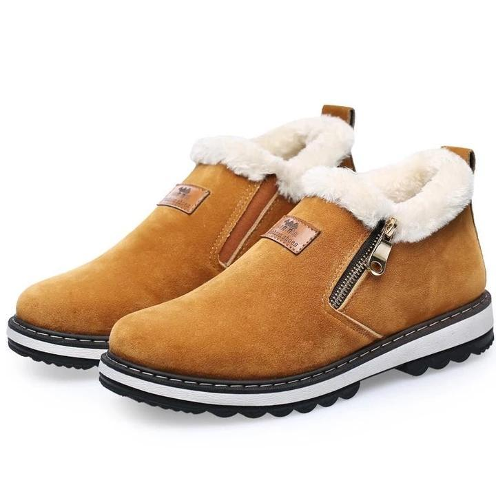 Men Plus Cotton Autumn And Winter Low Help Tooling Snow Boots