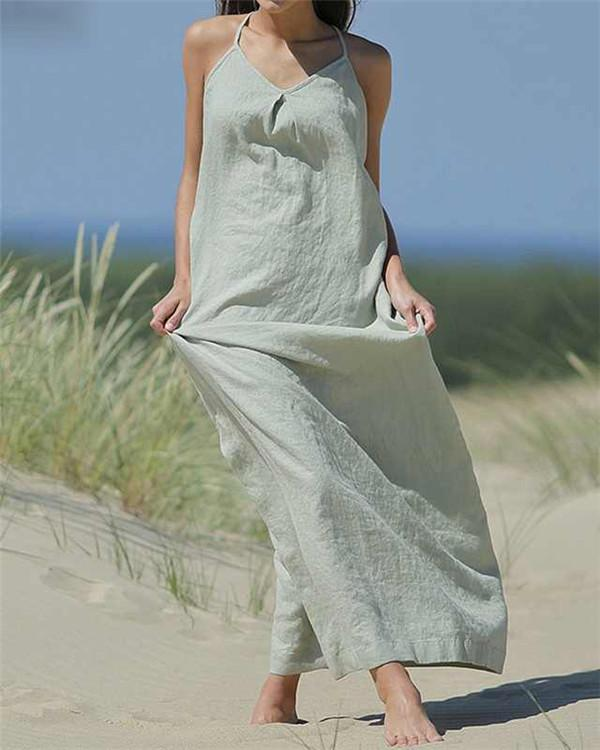 Casual Summer Sleeveless Vacation Dress
