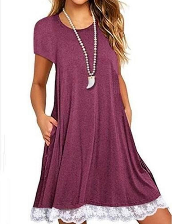 Women Casual V Neck Daytime Summer Dress