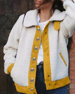 Solid Casual Buttoned Outwear