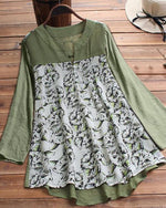 Buttoned Casual Cat Printed Women Blouses Tops
