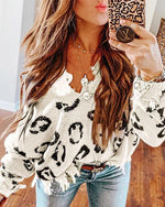 Asymmetrical Distressed Leopard Sweater