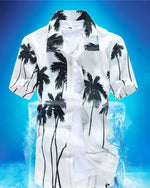 Aloha Beach Quick Dry Coconut Tree Printing Loose Hawaiian Shirts