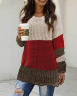Apricot Knitted Casual Sweater