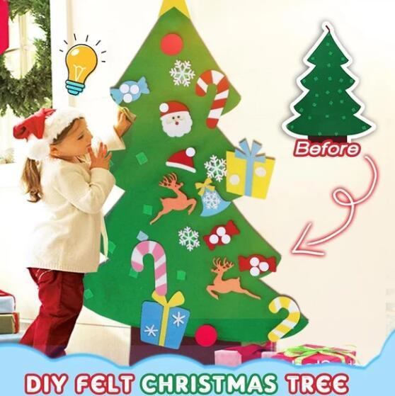 Wall Hanging DIY Felt Christmas Tree | For Kids & Toddlers