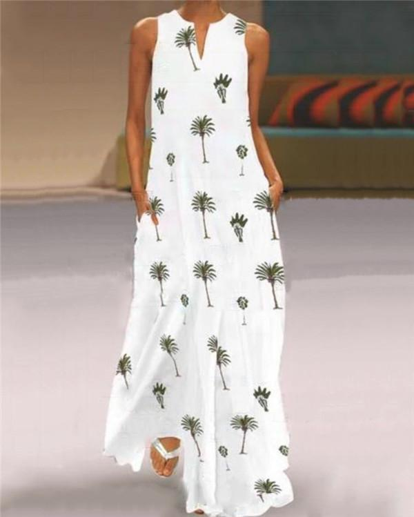 Vintage Summer Coco Sleeveless Maxi Dresses