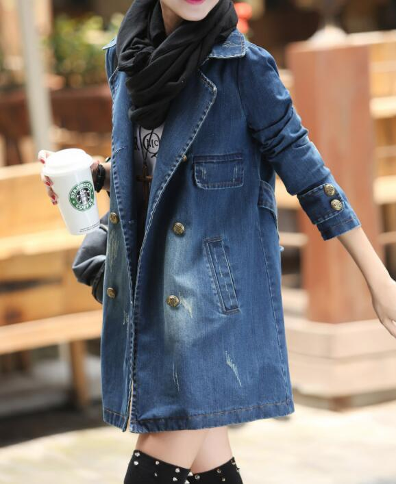 Polyester Long Sleeve Collar Pockets Coats