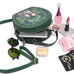 PU Leather Green Crossbody Bag Forest Series Bucket Bag