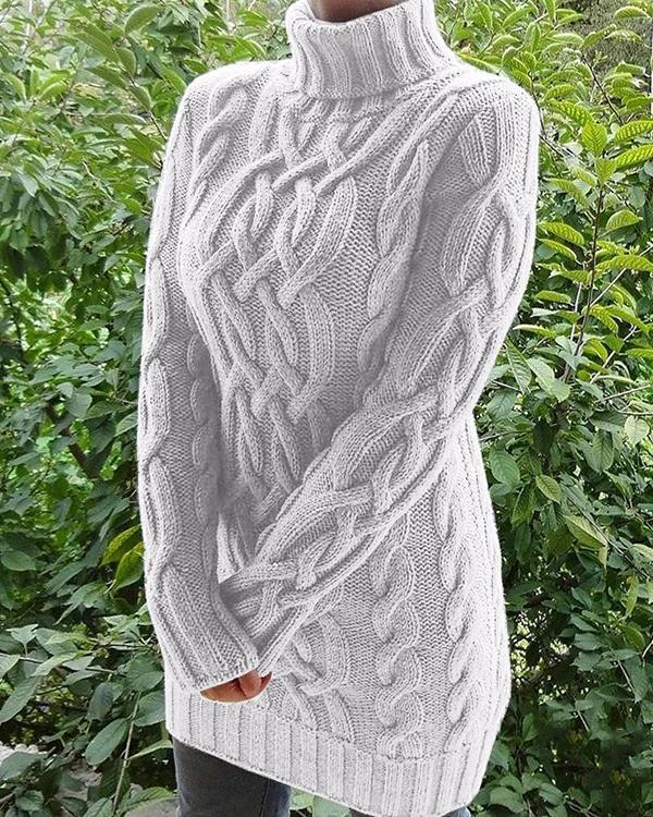Retro Women Thick Twist Sweaters