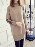 Stand Collar Women Dresses Shift Daily Casual Paneled Dresses
