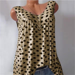 Plus Size Polka Dots Vest Tank Top