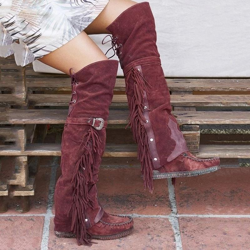 Flat Heel PU Winter Boots
