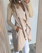 Wild Solid Cardigan Long Sleeve Fashionable Outwear Coat