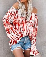 Off Shoulder Plus Size Vacation Color Shirts Tops