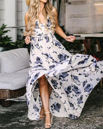Sleeveless Women Summer Floral Maxi Dress