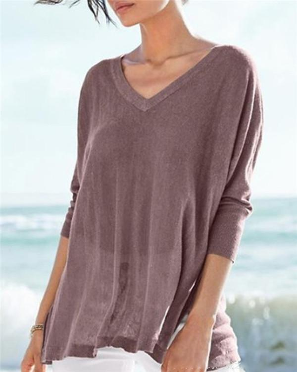 Casual Solid Fall New Casual Lady Daily Shift Tops