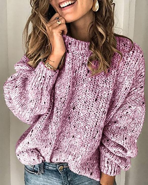 Cotton Long Sleeve Vintage Sweater