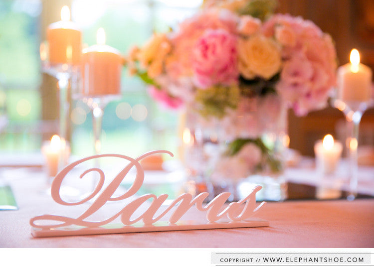 Table names // Photo by: one and only paris photography