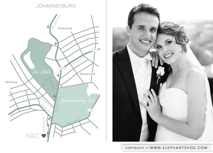Digital map card // Photo By: Christine Meintjes
