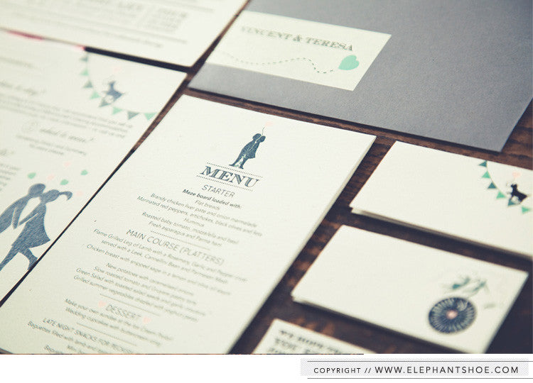 Menu and place setting cards // Photo by: Blackframe Photography