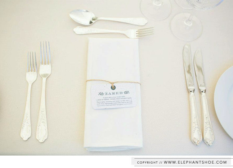 Growing paper place setting and guest gift // Photo by: Lad & Lass