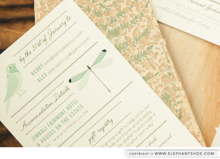 Additional info card // Photo by: Blackframe Photography