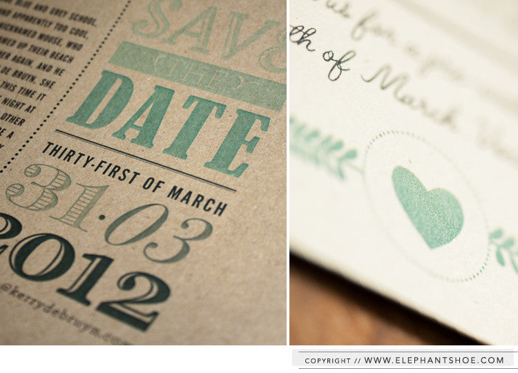 Printed Save the Date // Photo by: Blackframe Photography