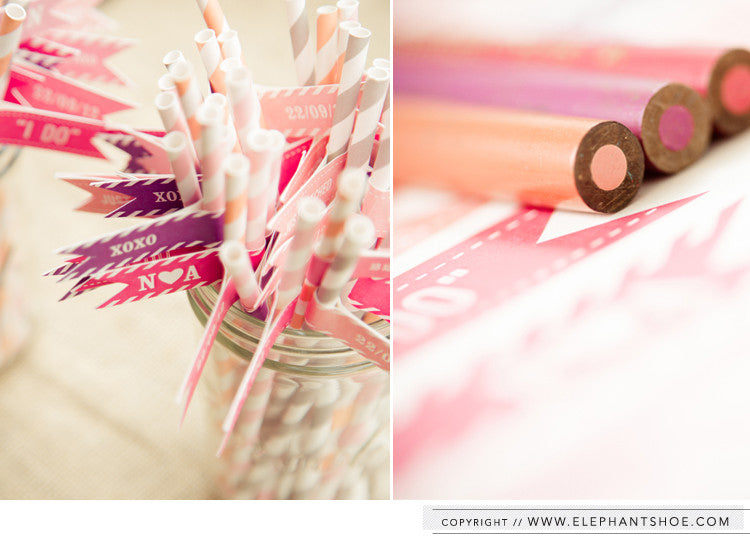 Straw flags // Photo by: Blackframe Photography