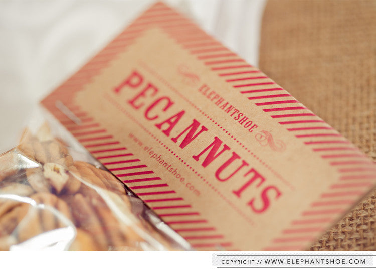Pecan nut gift bag // Photo by: Blackframe Photography