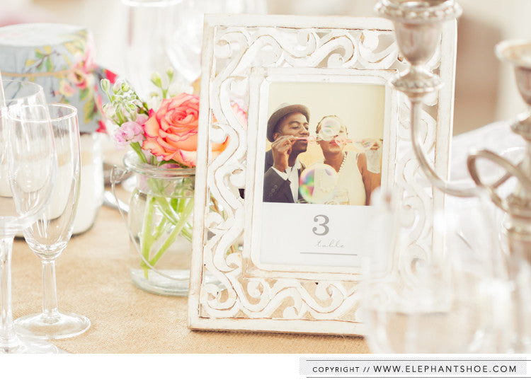Table numbers // Photo by: Blackframe Photography