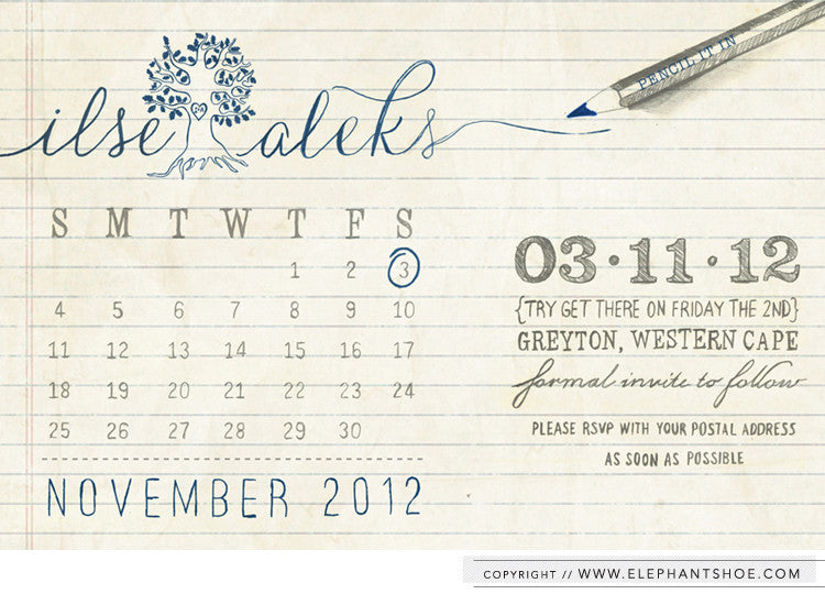 Illustrated - Save the Date Design