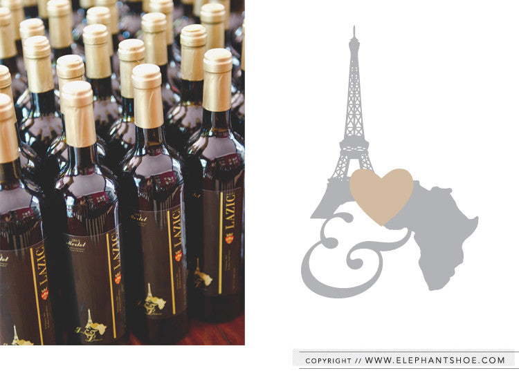 Custom logo and wine bottle labels // Photo By: Stella Uys