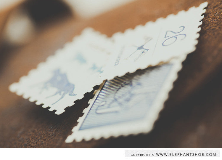 Custom stamps // Photo By: Blackframe Photography
