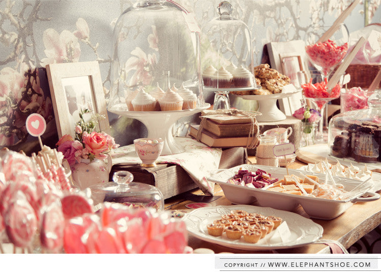Dessert and candy table // Photos by: Blackframe Photography
