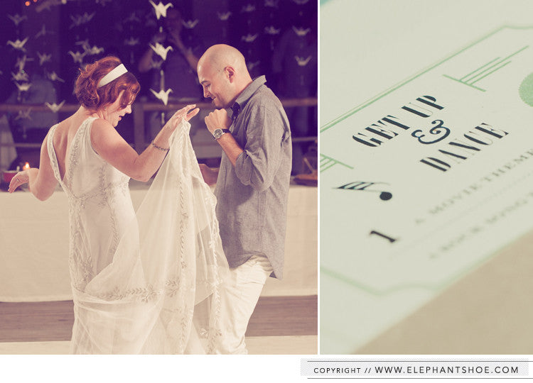 RSVP card // Photo by Blackframe Photography