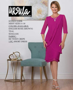 URSULA 11458 HI TWIST CREPE DRESS- Rental