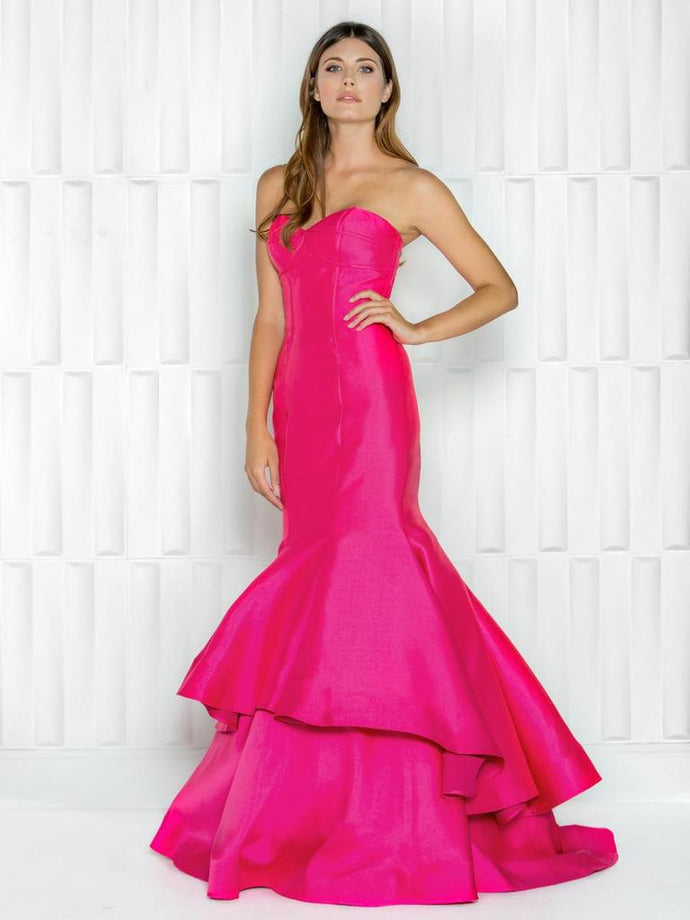 COLORS DRESS - 1689 TIERED MERMAID MIKADO GOWN - Colors - frock-on-penn-llc - Party