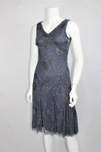 Beaded Flared Cocktail Dress on SALE