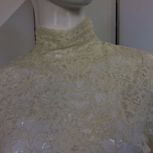 Alt. Bride Vintage Lace Blouse - Frock On Penn LLC - frock-on-penn-llc - Vintage