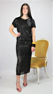 Two Piece Sequin Dress