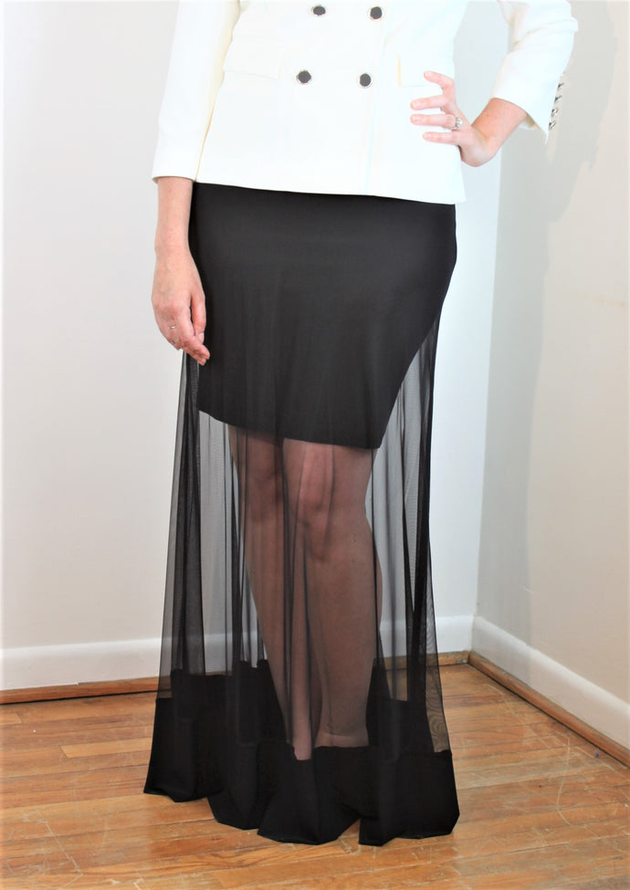 Bordered Mesh Skirt on SALE