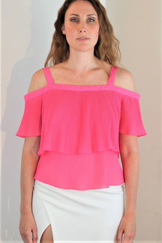 Micro-Pleated Summer Top on SALE