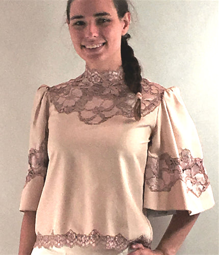 Vintage Silk Blouse - Vintage - frock-on-penn-llc - Vintage